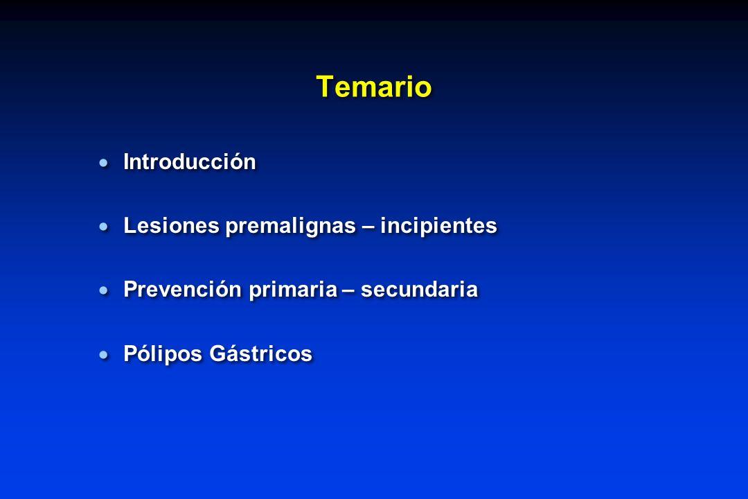 Temario Introducción Lesiones premalignas – incipientes