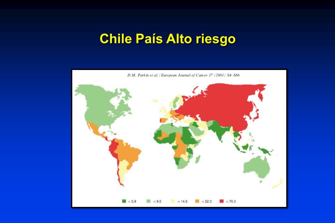 Chile País Alto riesgo Chile se cuenta entre los países con las tasas más altas, junto a Japón, Costa Rica y Singapur.