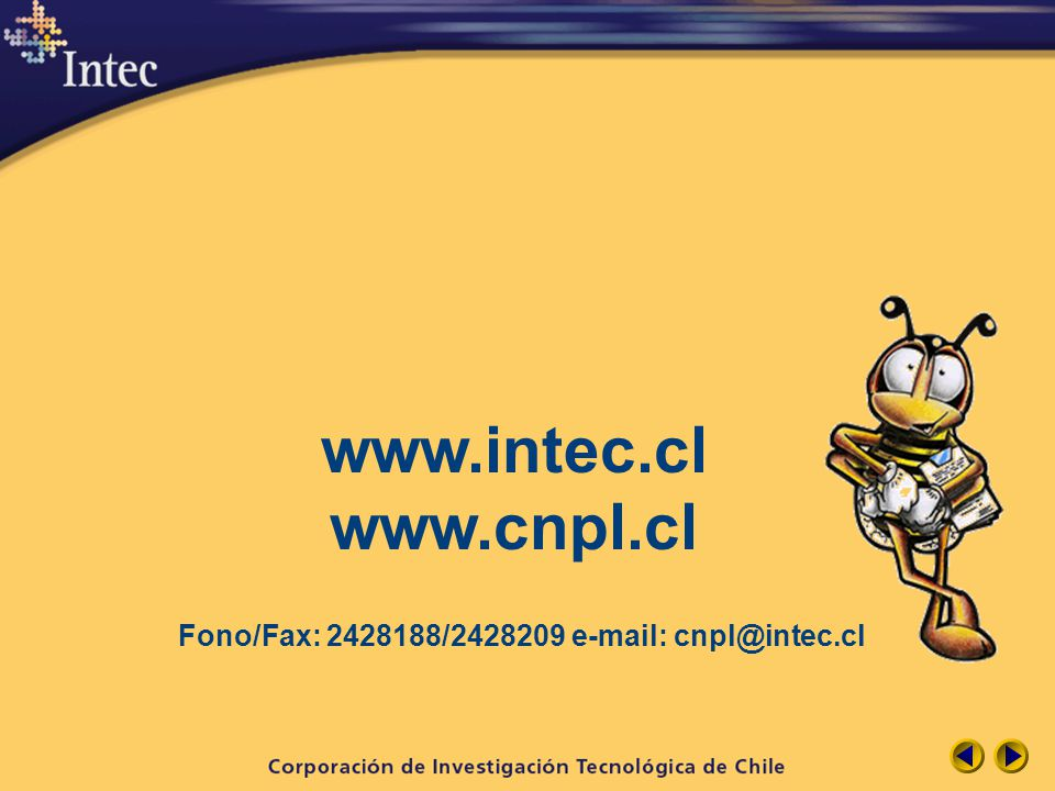 www.intec.cl www.cnpl.cl Fono/Fax: 2428188/2428209 e-mail: cnpl@intec.cl