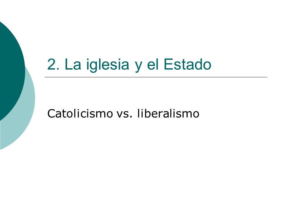 Catolicismo vs. liberalismo