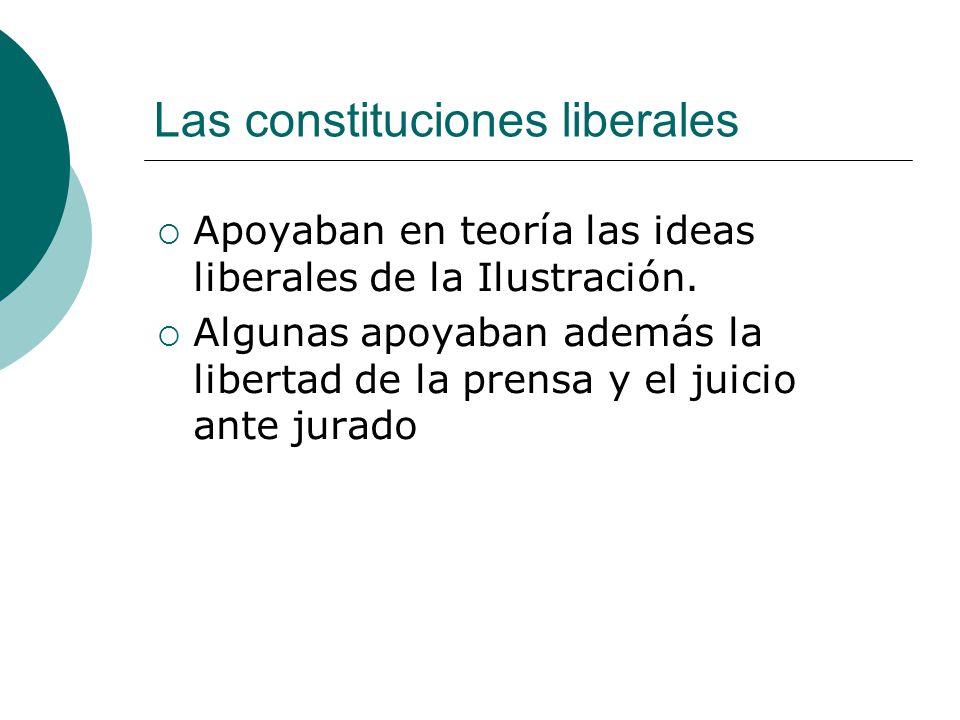 Las constituciones liberales
