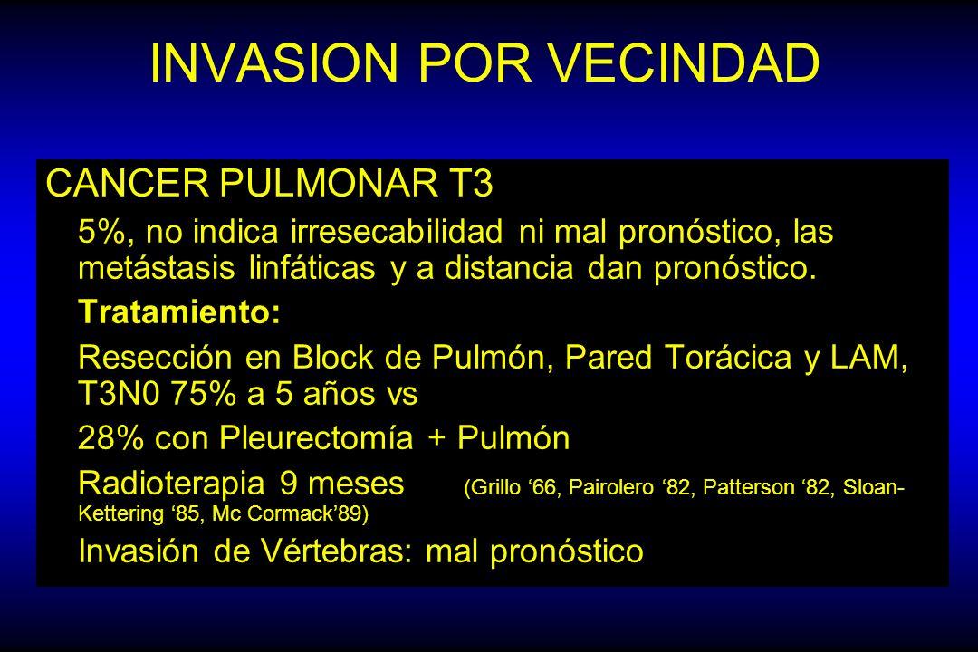 INVASION POR VECINDAD CANCER PULMONAR T3