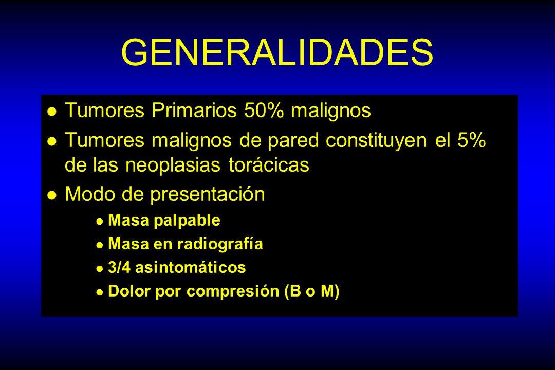 GENERALIDADES Tumores Primarios 50% malignos