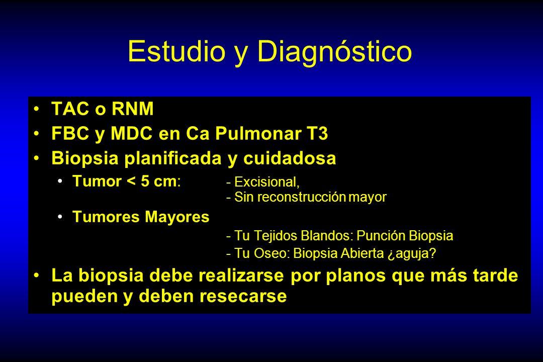 Estudio y Diagnóstico TAC o RNM FBC y MDC en Ca Pulmonar T3