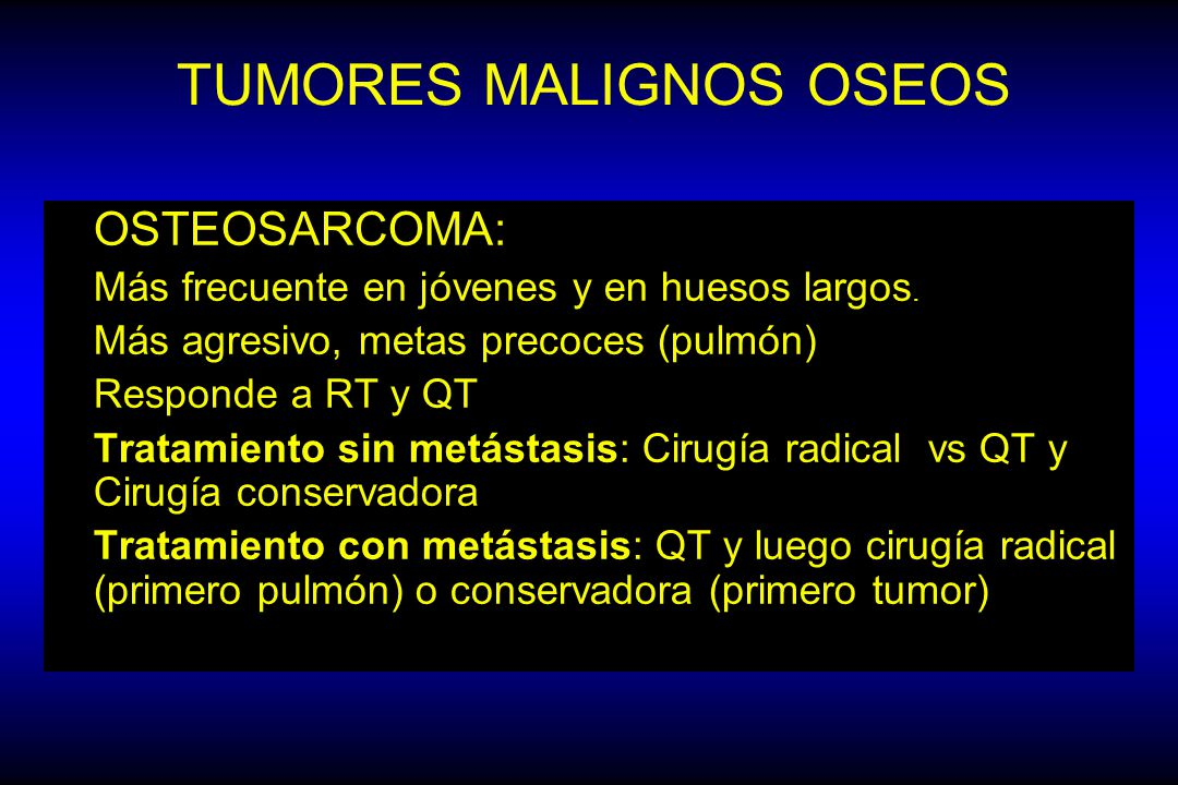TUMORES MALIGNOS OSEOS