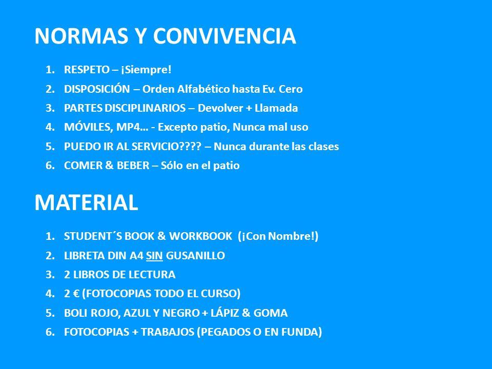 NORMAS Y CONVIVENCIA MATERIAL RESPETO – ¡Siempre!