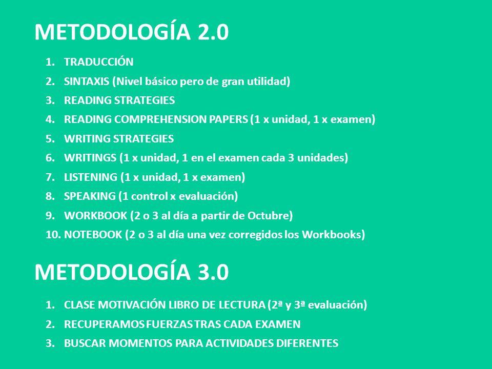 METODOLOGÍA 2.0 METODOLOGÍA 3.0 TRADUCCIÓN