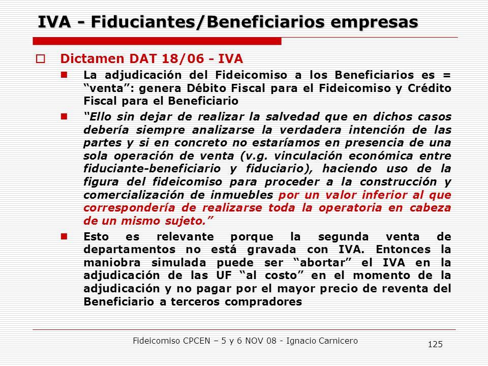 IVA - Fiduciantes/Beneficiarios empresas