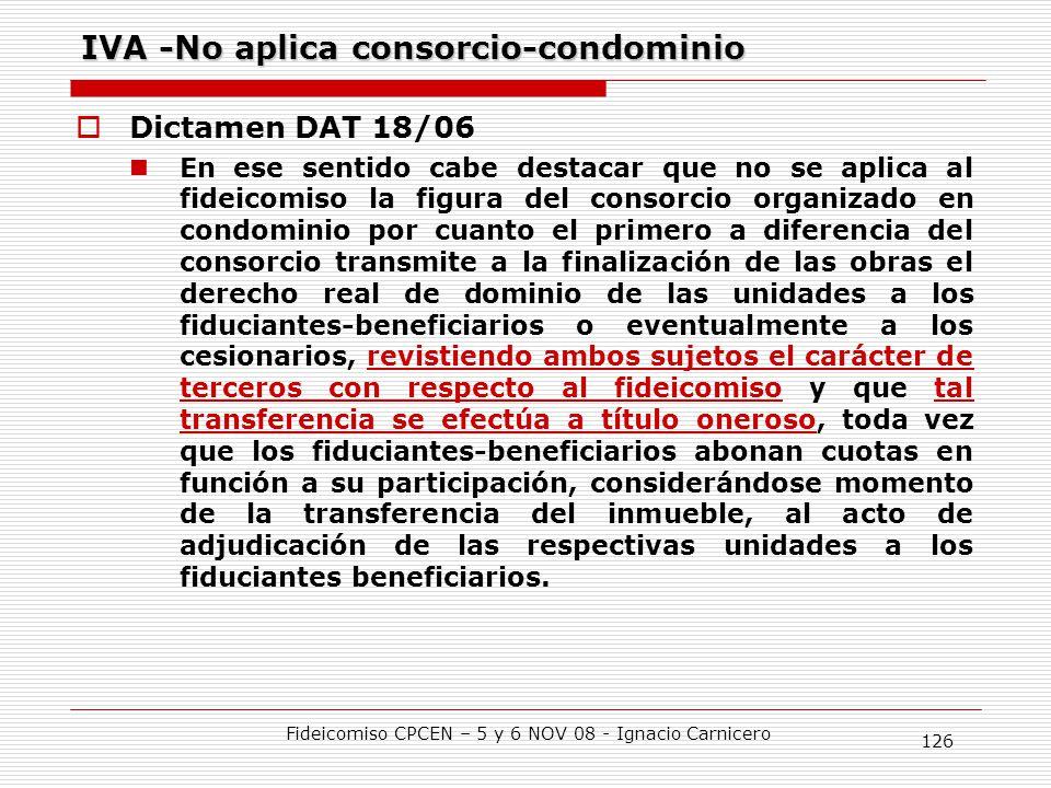 IVA -No aplica consorcio-condominio