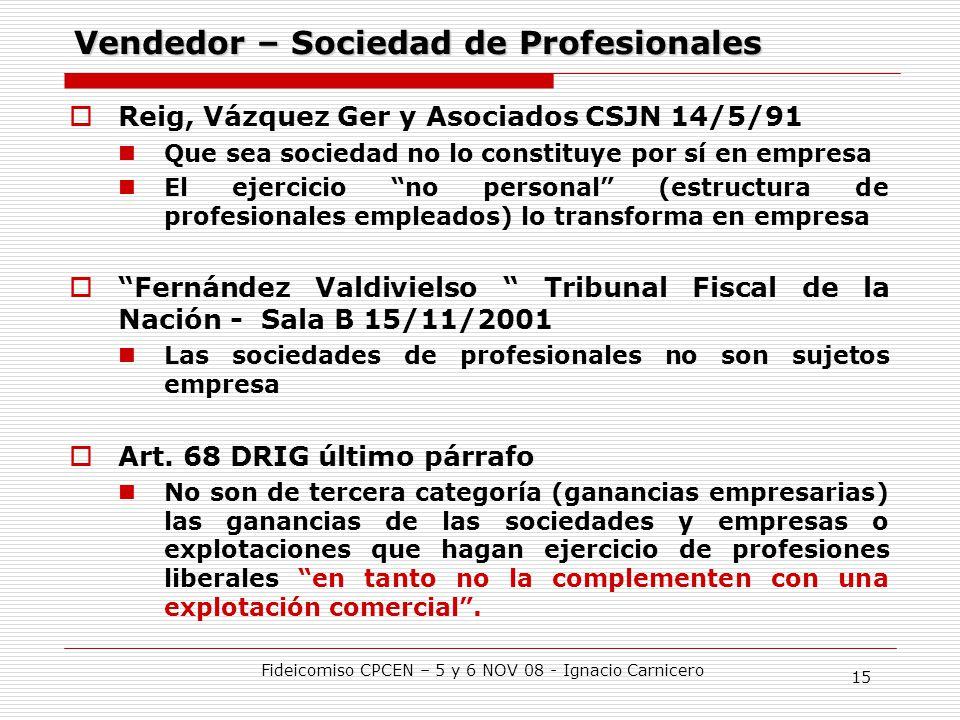 Vendedor – Sociedad de Profesionales