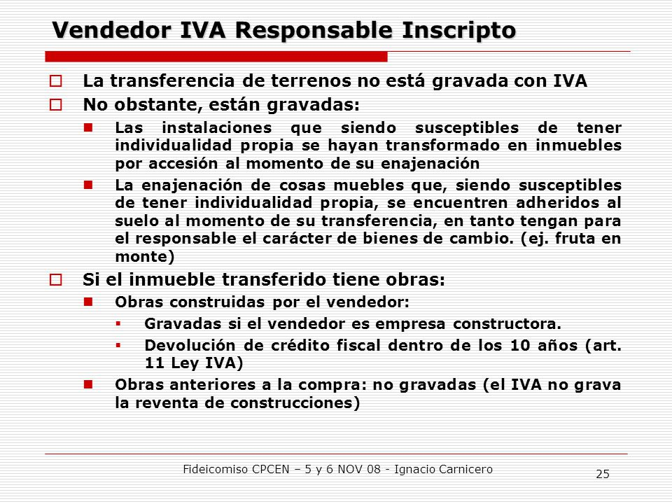 Vendedor IVA Responsable Inscripto