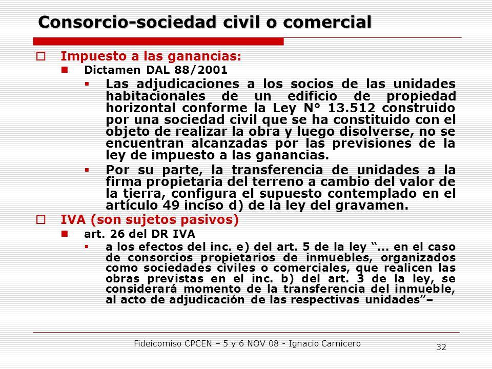 Consorcio-sociedad civil o comercial