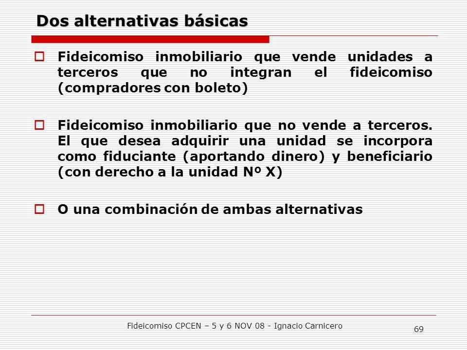 Dos alternativas básicas
