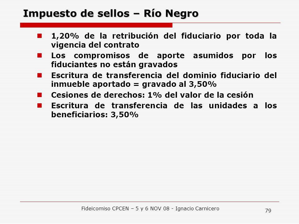 Impuesto de sellos – Río Negro