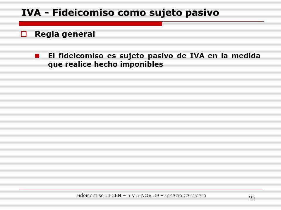 IVA - Fideicomiso como sujeto pasivo