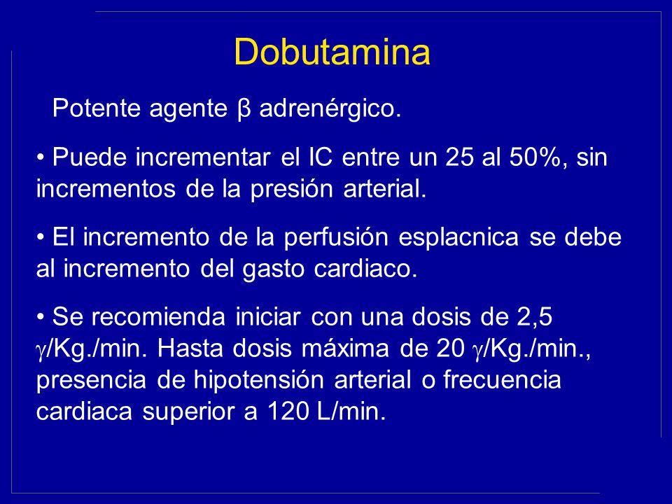 Dobutamina Potente agente β adrenérgico.