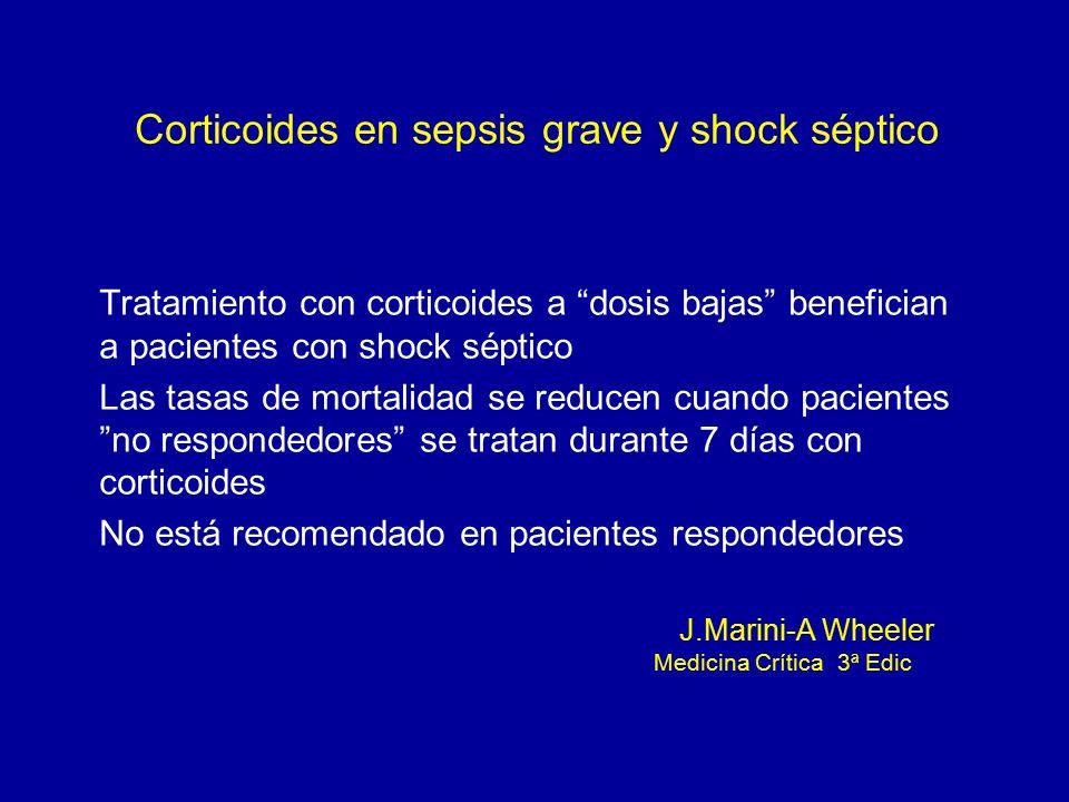 Corticoides en sepsis grave y shock séptico
