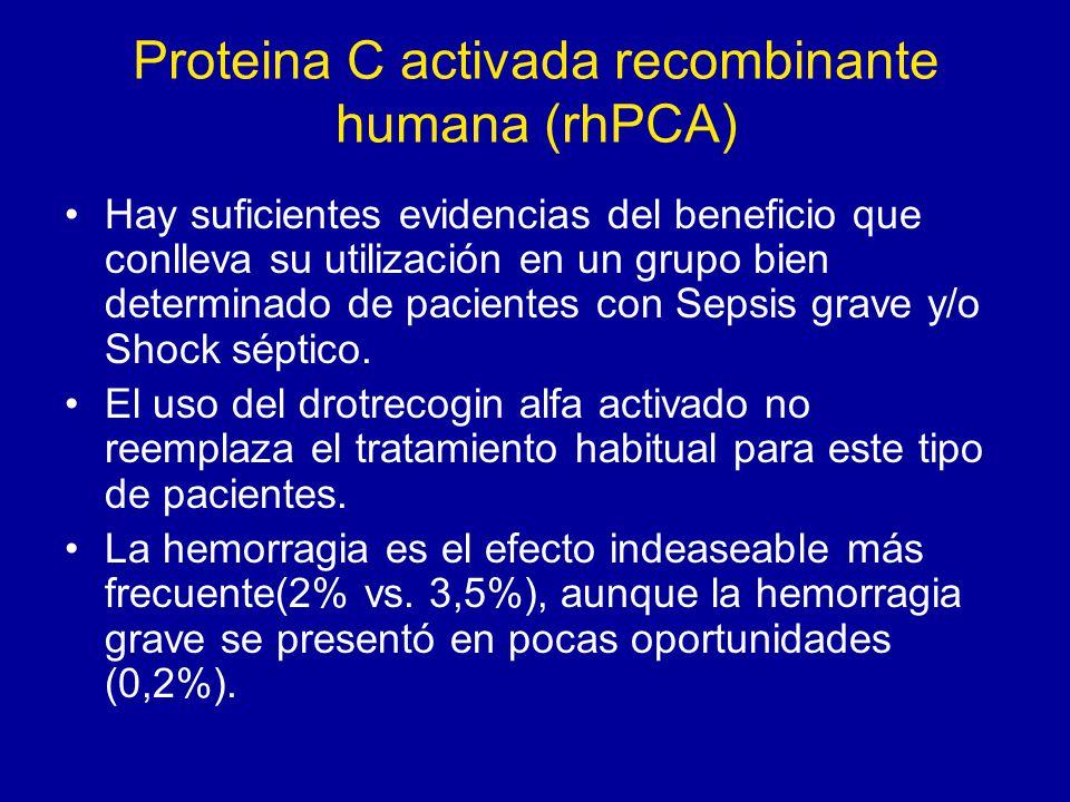 Proteina C activada recombinante humana (rhPCA)