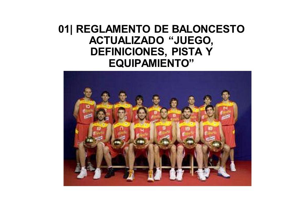 01| REGLAMENTO DE BALONCESTO ACTUALIZADO JUEGO, DEFINICIONES, PISTA Y EQUIPAMIENTO