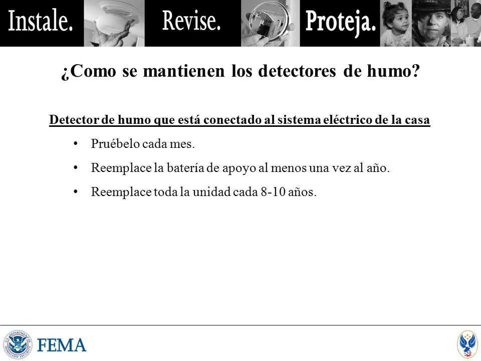 ¿Como se mantienen los detectores de humo