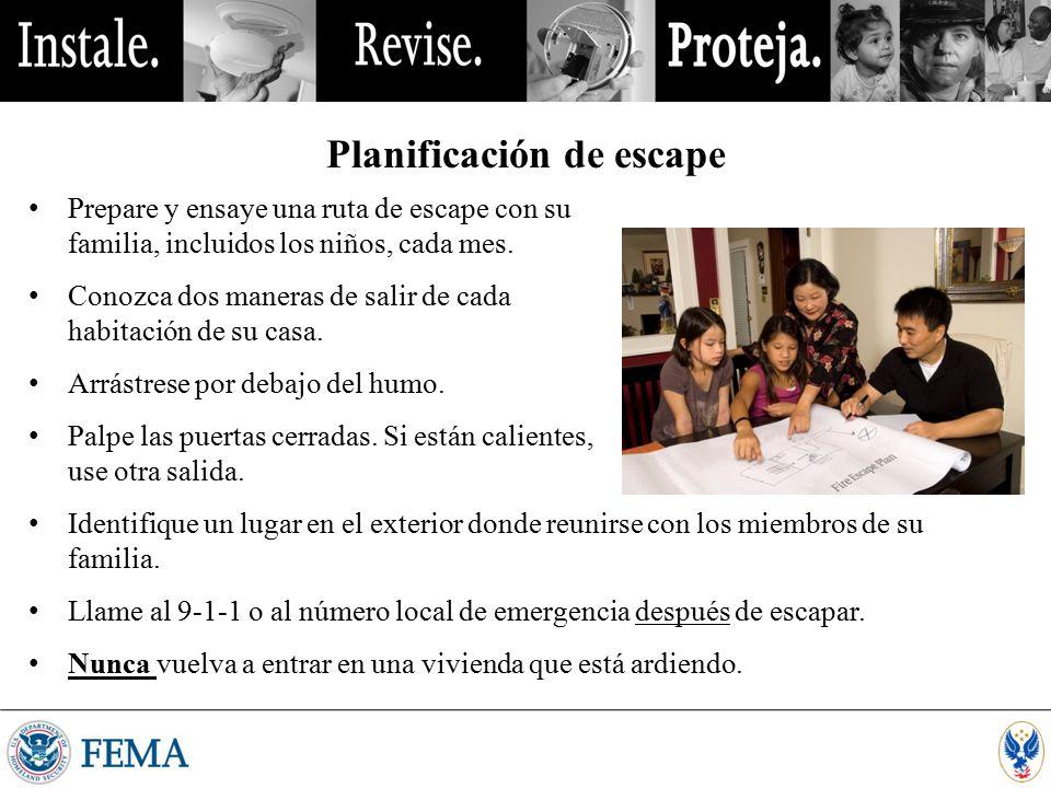 Planificación de escape