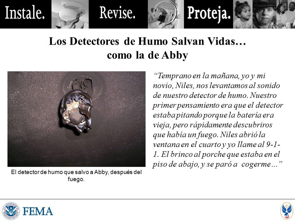 Los Detectores de Humo Salvan Vidas…