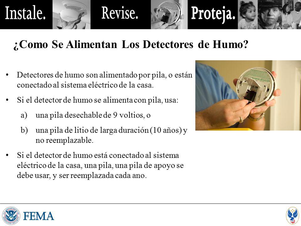 ¿Como Se Alimentan Los Detectores de Humo