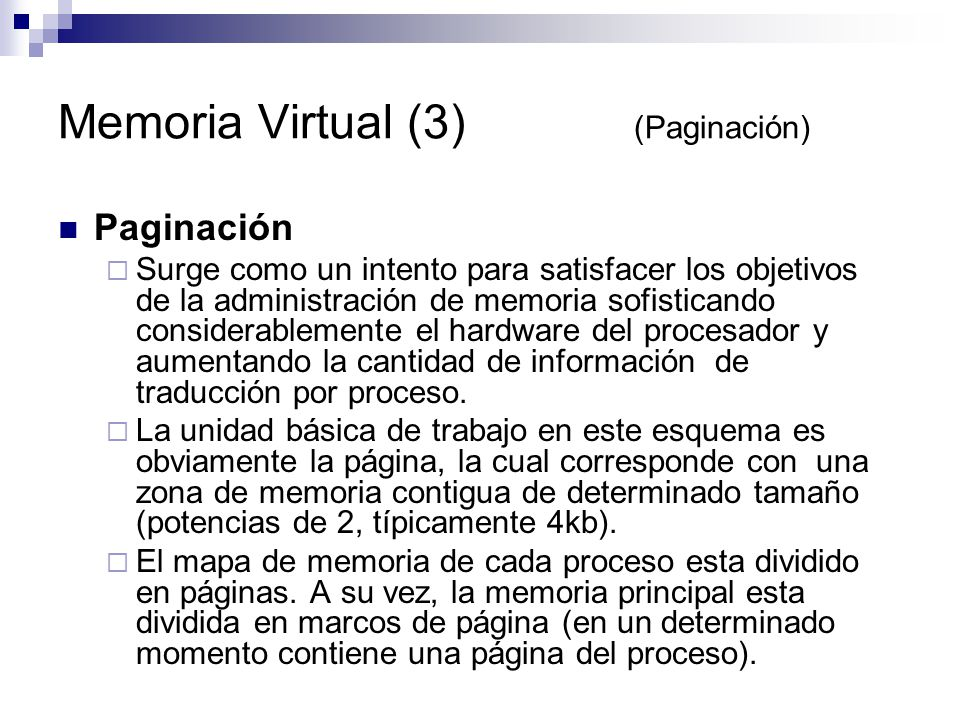 Memoria Virtual (3) (Paginación)