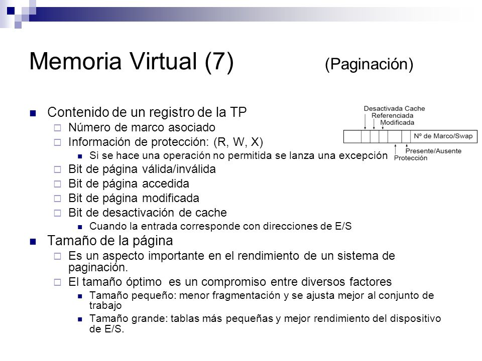 Memoria Virtual (7) (Paginación)