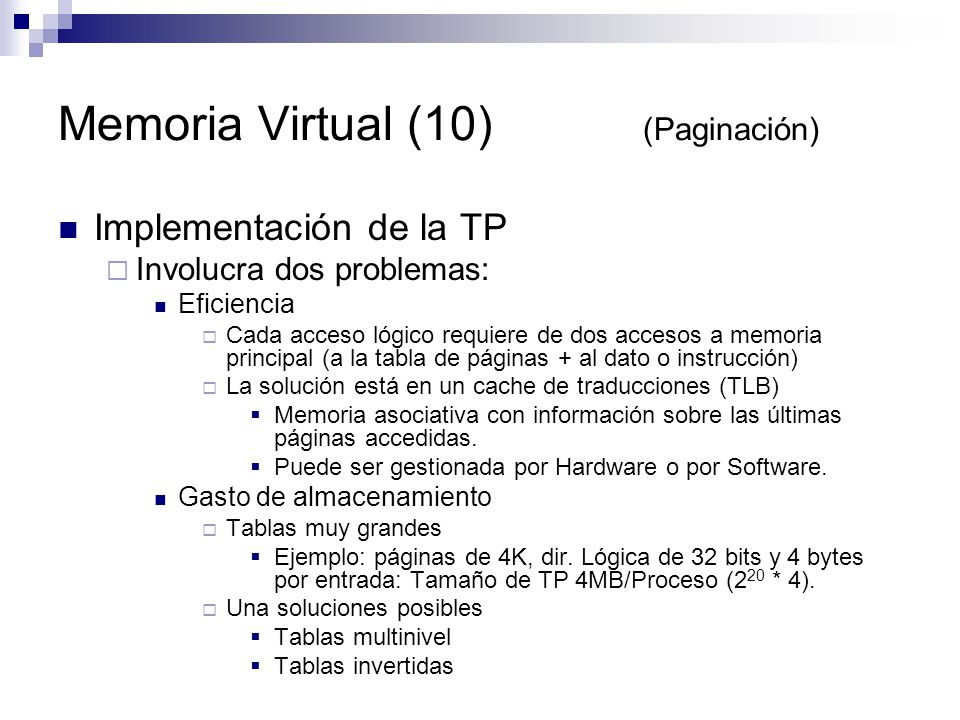 Memoria Virtual (10) (Paginación)