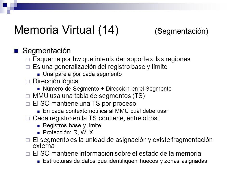 Memoria Virtual (14) (Segmentación)