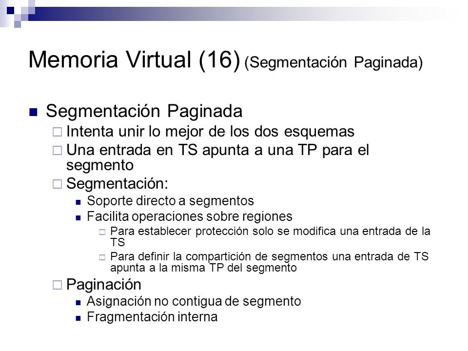 Memoria Virtual (16) (Segmentación Paginada)