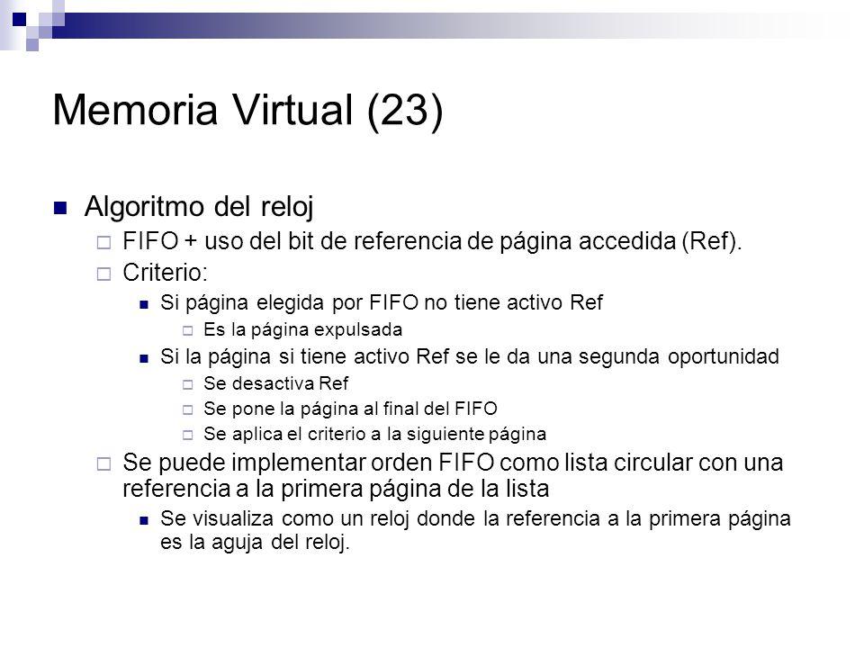 Memoria Virtual (23) Algoritmo del reloj