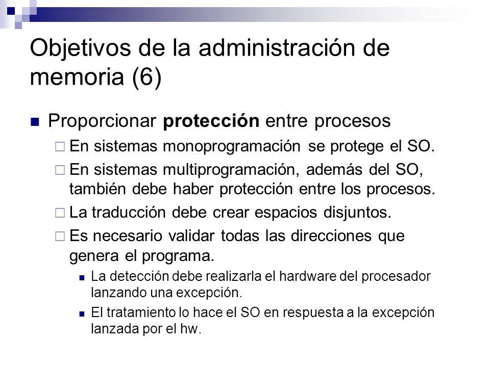 Objetivos de la administración de memoria (6)