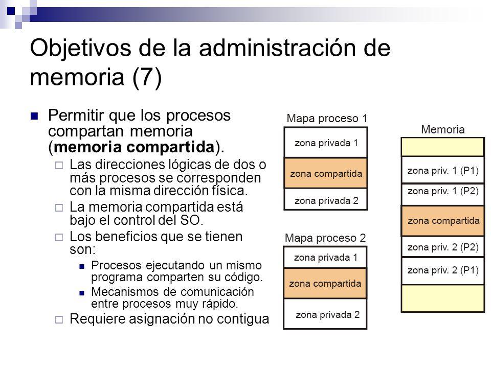 Objetivos de la administración de memoria (7)