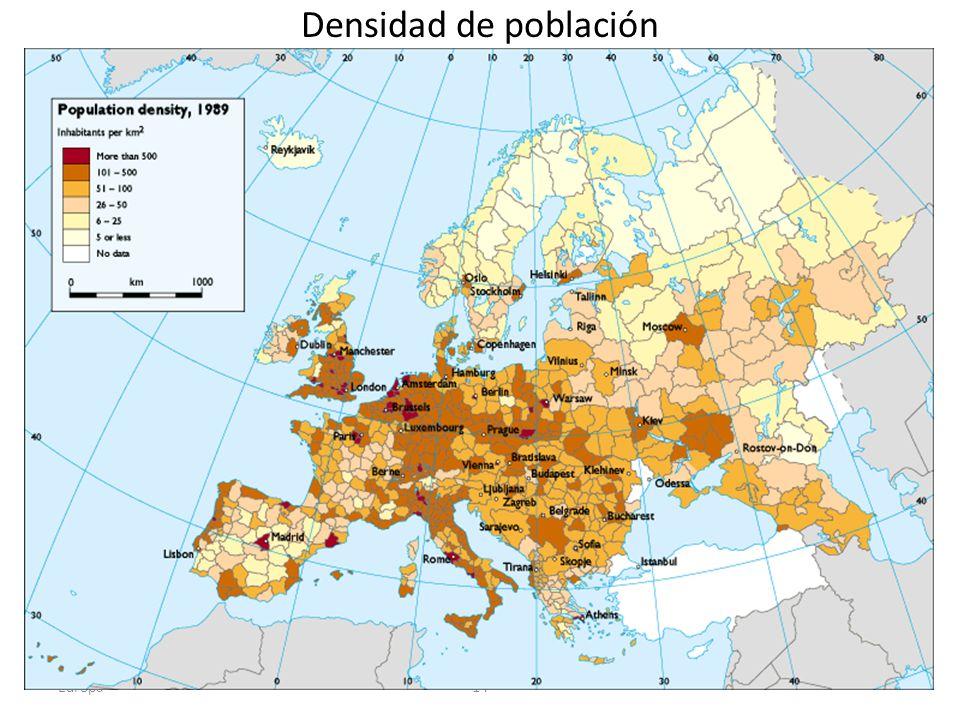 Densidad de población Europa