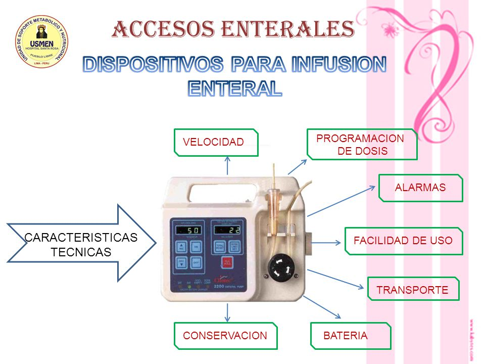 DISPOSITIVOS PARA INFUSION ENTERAL