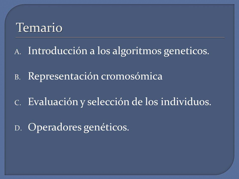 Temario Introducción a los algoritmos geneticos.