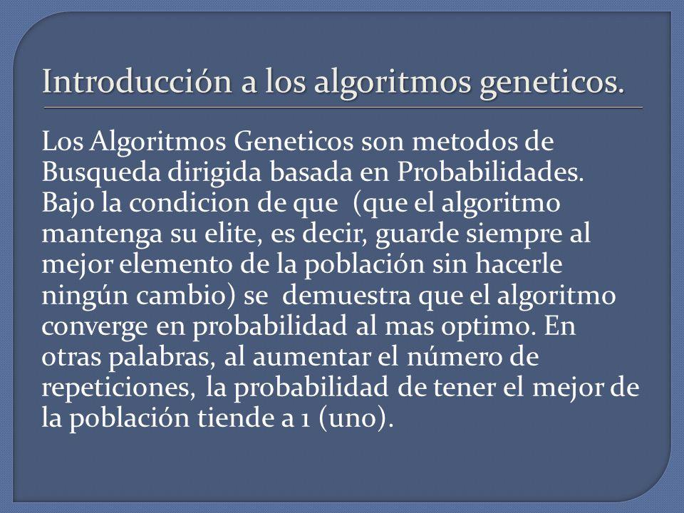 Introducción a los algoritmos geneticos.