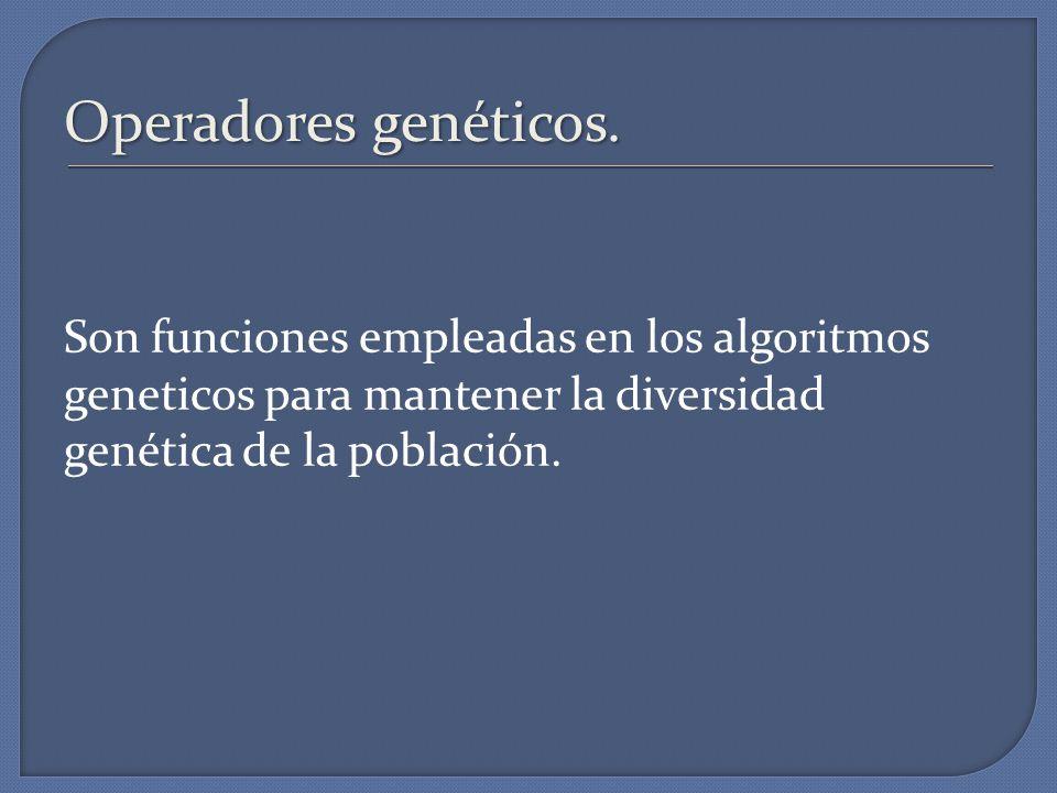 Operadores genéticos.