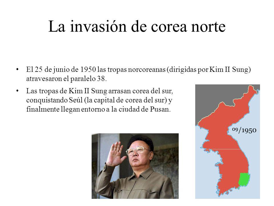 La invasión de corea norte