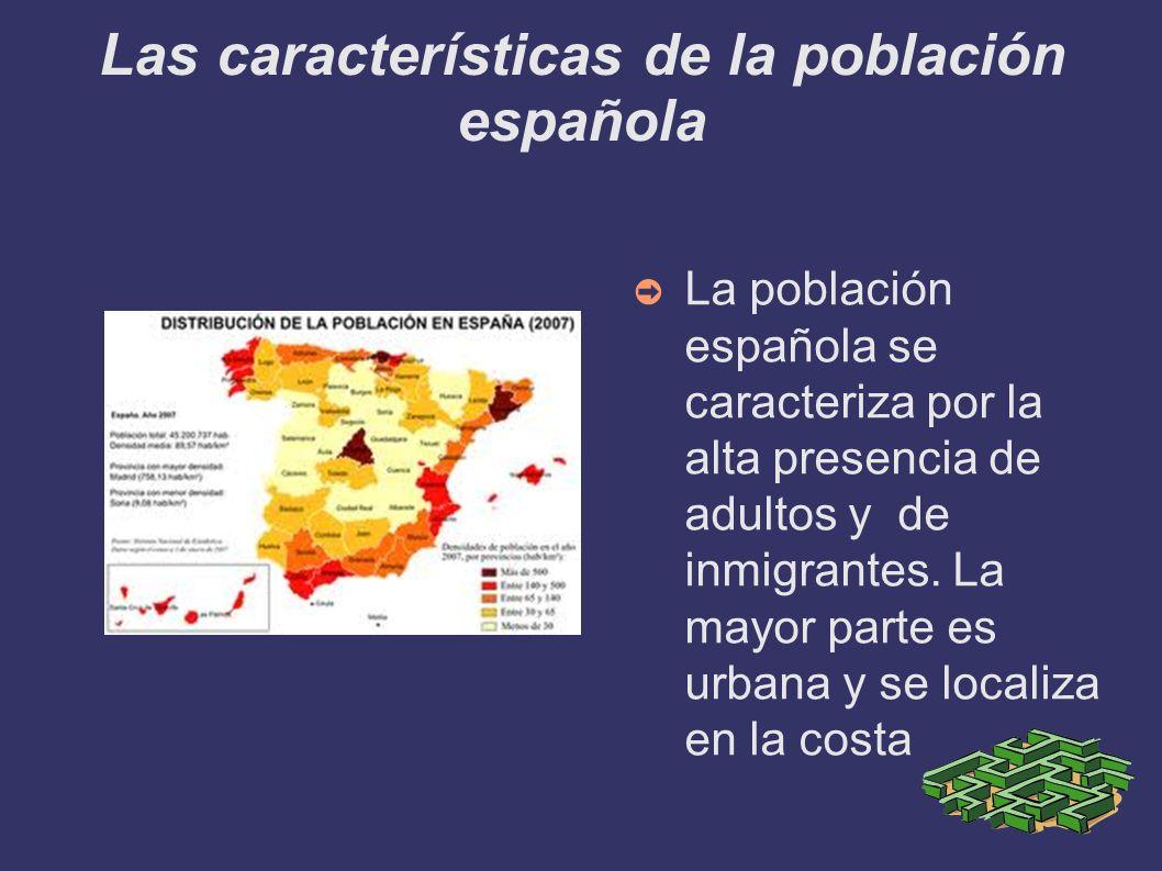 Las características de la población española