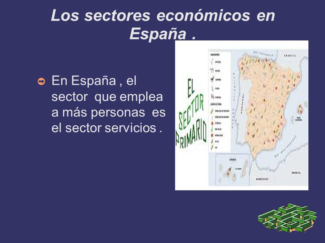 Los sectores económicos en España .