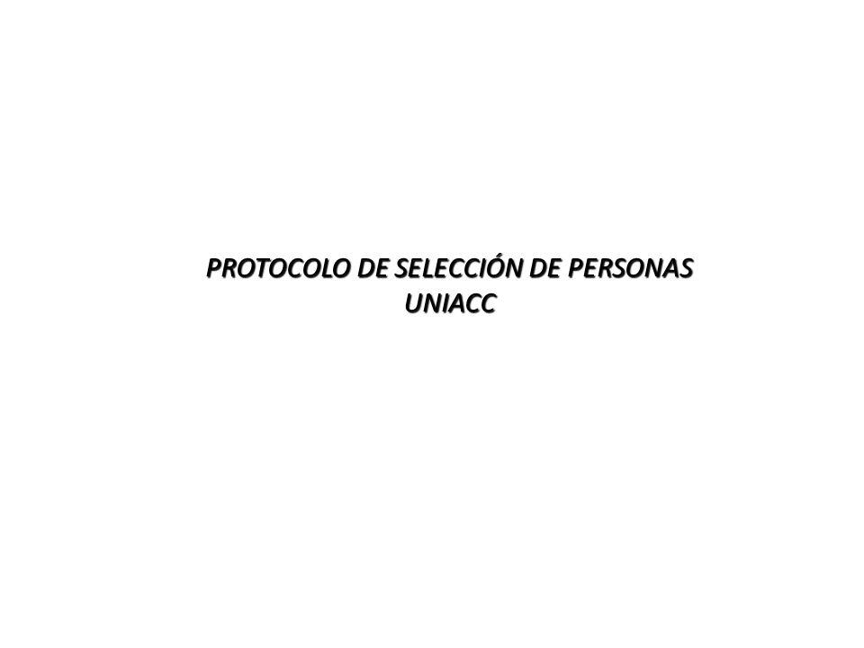 PROTOCOLO DE SELECCIÓN DE PERSONAS