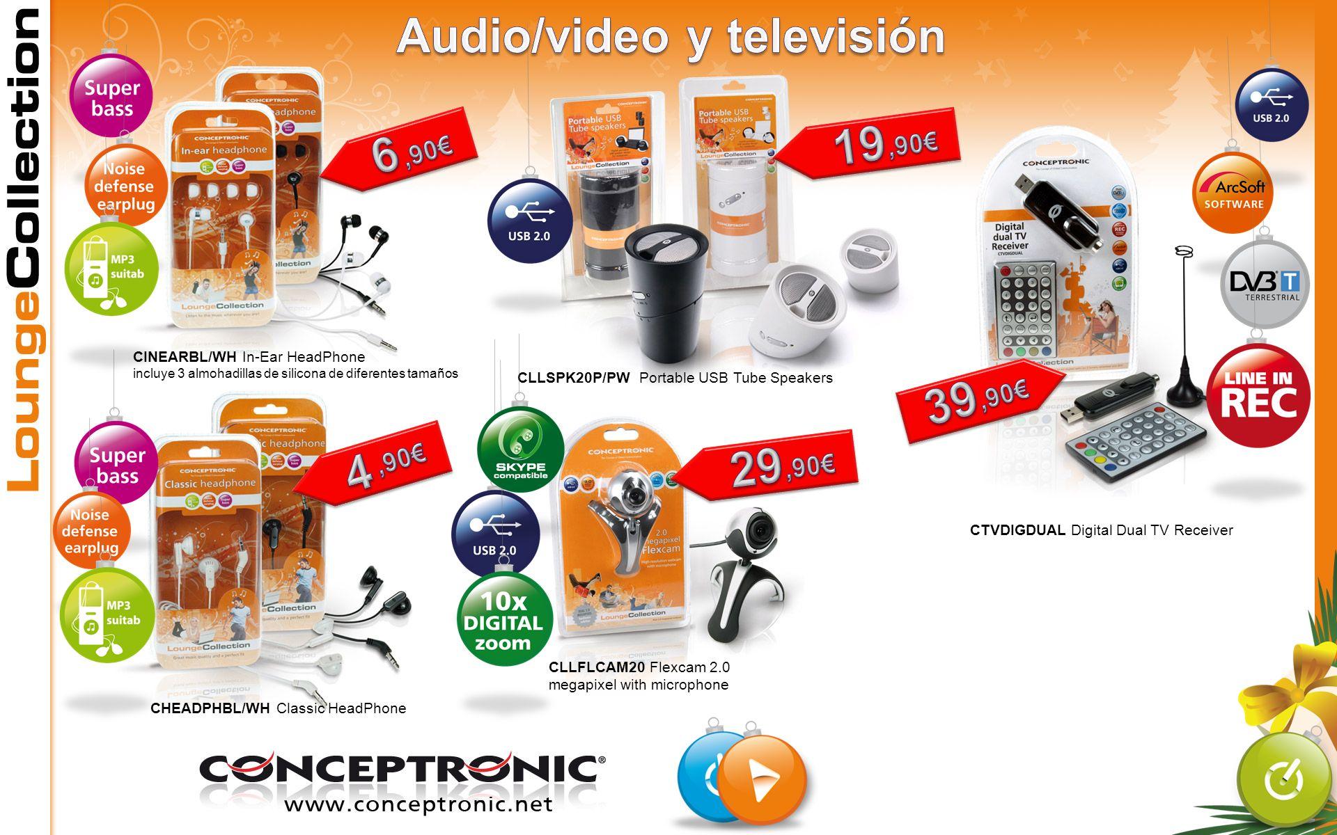 Audio/video y televisión