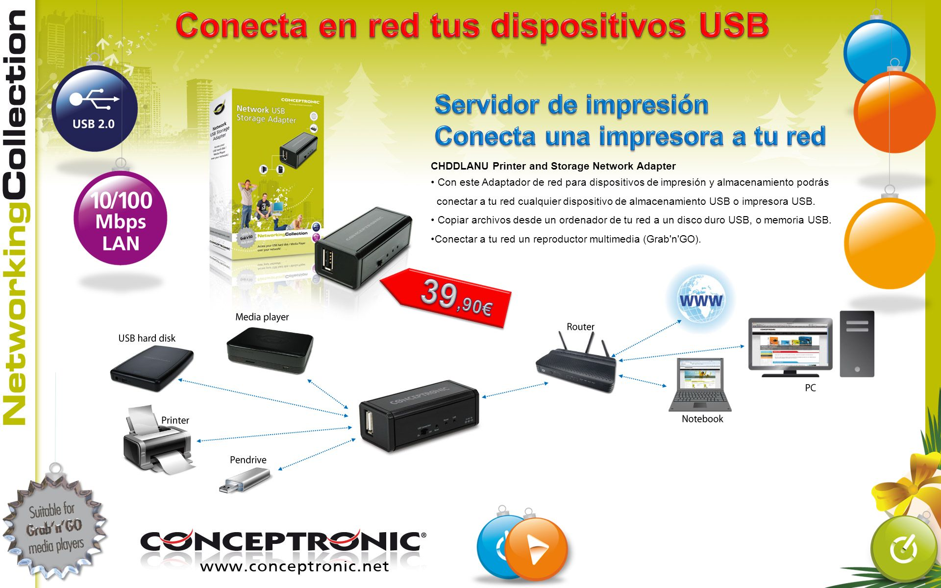 Conecta en red tus dispositivos USB