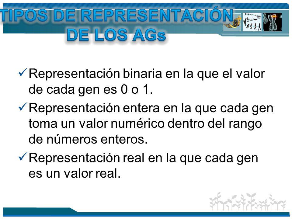 TIPOS DE REPRESENTACIÓN DE LOS AGs