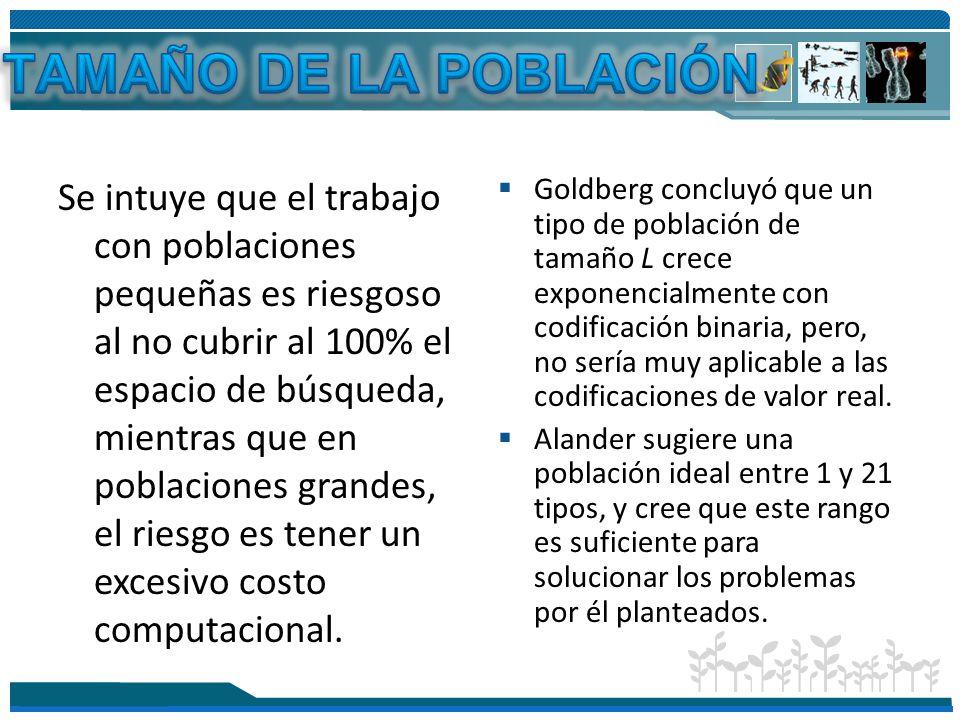 TAMAÑO DE LA POBLACIÓN
