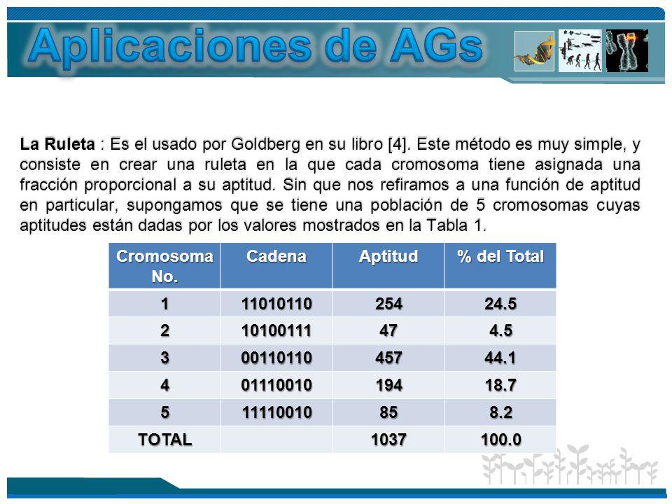 Aplicaciones de AGs