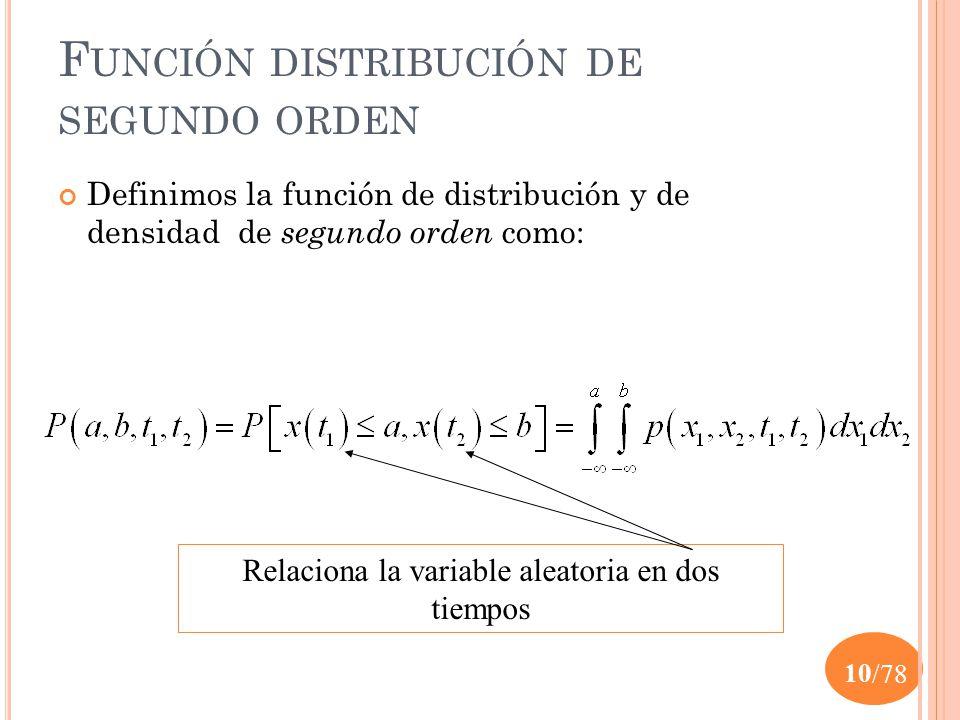 Función distribución de segundo orden